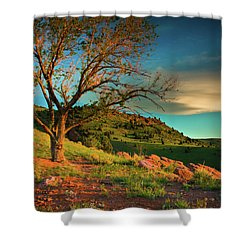 Shower Curtain featuring the photograph Light Of The Hillside by John De Bord