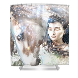 Shower Curtain featuring the painting Light Of The Mohawks by Suzanne Silvir