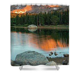 Light Of The Mountain Shower Curtain by John De Bord