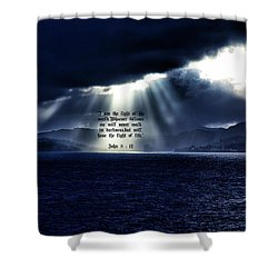 Light Of The World Shower Curtain by Dennis Baswell