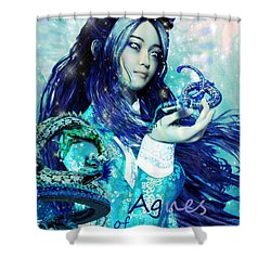 Shower Curtain featuring the painting Light Of Vietnam Saint Agnes by Suzanne Silvir