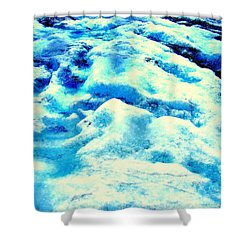 Light On Glacier Shower Curtain