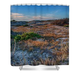 Light On The Dunes Shower Curtain by Bill Roberts