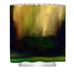 Light On The Horizon Shower Curtain by Lenore Senior