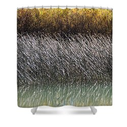 Light On The Pond Shower Curtain