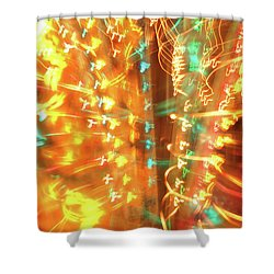 Light Painting 1 Shower Curtain