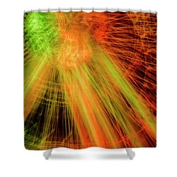 Light Painting At Night Shower Curtain