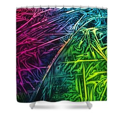 Light Painting Colors Abstract Experimental Chemiluminescent Photography Shower Curtain