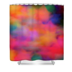 Lucky Neon Stars Shower Curtain