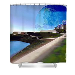 Light Path Shower Curtain by Corey Ford