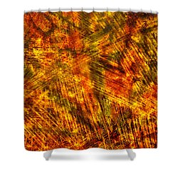 Shower Curtain featuring the mixed media Light Play by Sami Tiainen