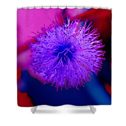 Light Purple Puff Explosion Shower Curtain