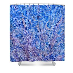 Shower Curtain featuring the mixed media Light Race 2 by Sami Tiainen