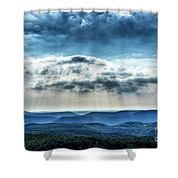 Shower Curtain featuring the photograph Light Rains Down by Thomas R Fletcher