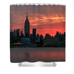 Light Ray's Of Nyc  Shower Curtain