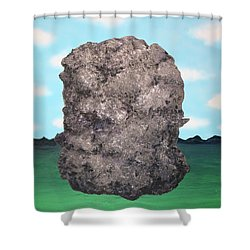 Light Rock Shower Curtain