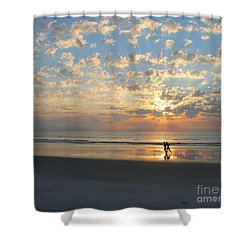 Light Run Shower Curtain