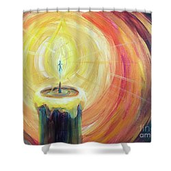 Shower Curtain featuring the painting Light Shine Bright by Lisa DuBois