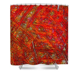 Shower Curtain featuring the mixed media Light Sticks 2 by Sami Tiainen