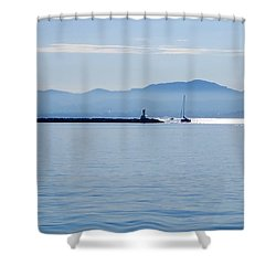 Light Streak Shower Curtain