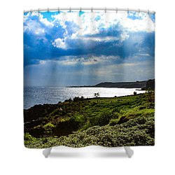 Light Streams On Kauai Shower Curtain