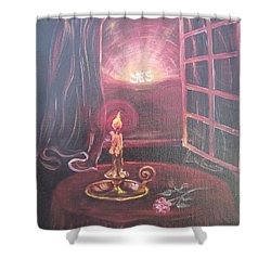 Light The Yes Candle Shower Curtain