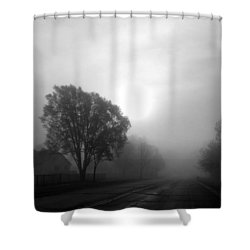 Light Through A Fog Shower Curtain