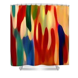Light Through Flowers Shower Curtain by Amy Vangsgard