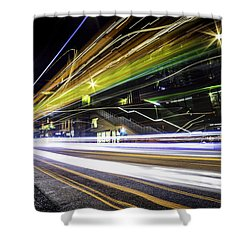 Shower Curtain featuring the photograph Light Trails 1 by Nicklas Gustafsson