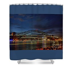 Shower Curtain featuring the photograph Light Trails On The Harbor By Kaye Menner by Kaye Menner