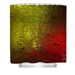 Shower Curtain featuring the photograph Light Under Ice by Trena Mara