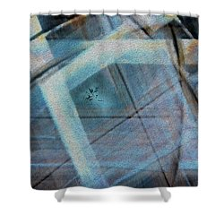 Light Wave Rust Shower Curtain