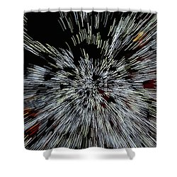 Light Zoom 1 Shower Curtain