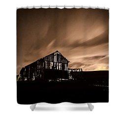 Lighted Barn Shower Curtain