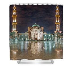 Lighted Federal Territory Mosque  Shower Curtain