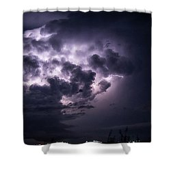 Lightening At Night Shower Curtain
