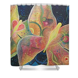 Lighthearted Shower Curtain by Helena Tiainen