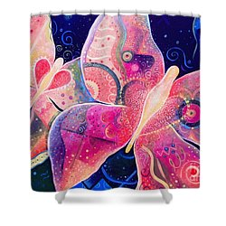 Lighthearted In Full Spectrum Shower Curtain