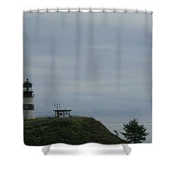 Lighthouse At Cape Disappointment Shower Curtain