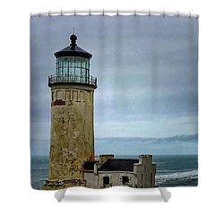 Lighthouse At Early Evening Shower Curtain