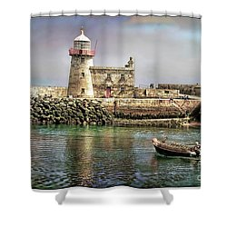 Lighthouse At Howth, Ireland Shower Curtain