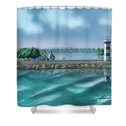 Lighthouse At Lake Conroe Shower Curtain