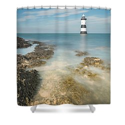 Lighthouse At Penmon Shower Curtain