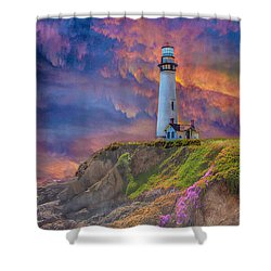 Lighthouse At Pigeon Point Shower Curtain