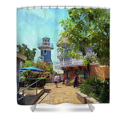 Lighthouse At Seaport Village Shower Curtain