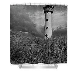 Lighthouse Bw Shower Curtain