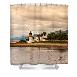 Lighthouse In The Highlands Shower Curtain