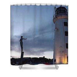 Lighthouse Lady 2 Shower Curtain