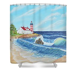 Lighthouse Life Shower Curtain