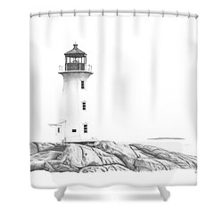 Lighthouse Of Peggy's Cove Shower Curtain by Patricia Hiltz
